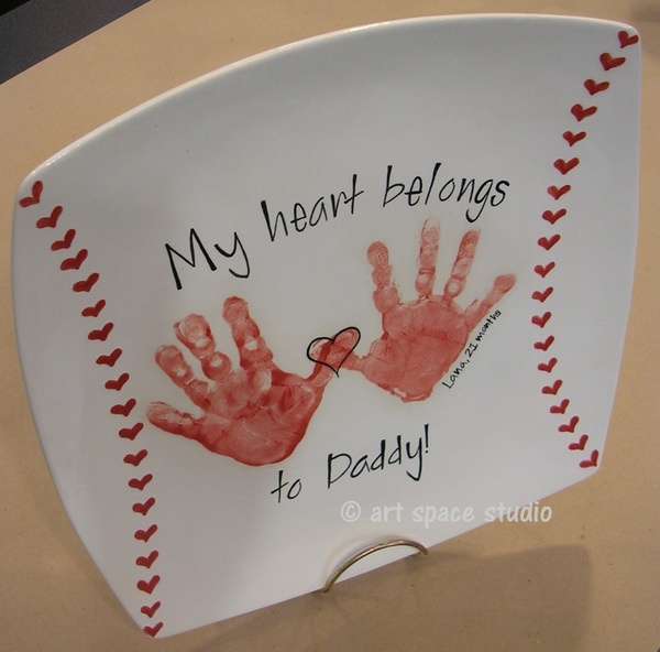 """Over 100 Fathers Day Gift Ideas: """"My Heart Belongs To Dad"""" Baseball Plate"""